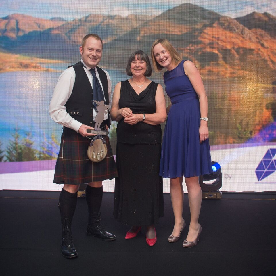 Tourism Everyone's Business.WOW Scotland Tours, Inverness (from left) Gordon Pearson, Cllr Audrey Sinclair (Highland Council) and Kay Pearson.
